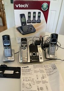 VTech CS6229-4 DECT 6.0 Phone Answering System Caller ID 3 Handsets **WORKS**