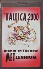 * Metallica * Laminated Backstage Pass 2000 Kickin' In The New Metlennium