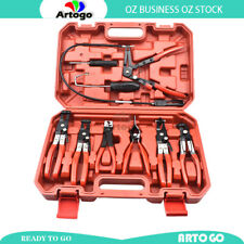Hose Clamp Pliers Set Tool Kit Swivel Jaw Ring Mechanics with Carry Case 9 PCS