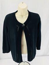 Jones New York Sport Woman's Black Cardigan Sweater Large