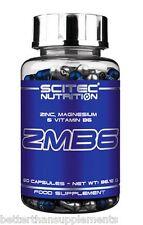 Scitec Nutrition ZMA 60caps. ZMB6 Zinc Magnesium Vit.B6 - free shipping !