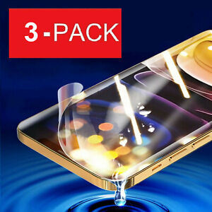 For iPhone 12 11 Pro Max XS XR 8 7 6 Plus SE Hydrogel Film Screen Protector