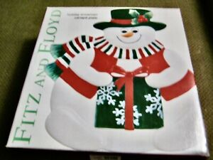 Fitz and Floyd Essentials Snowman Canape Plate