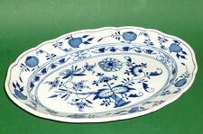 Alte Meissen Zwiebelmuster Servierplatte ovale Schale Platte Indischblau plate