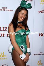 Penelope Jimenez in her Green Busty Bunny Suit Playboy Playmate 4 4x6