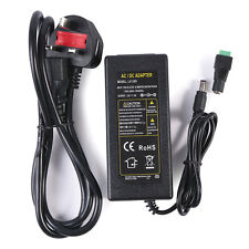 New 5A 12V UK Plug Power Supply Adapter Charger For 3528 5050 LED Strip Light