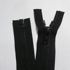 65cm Black Plastic Resin Slider Teeth Chunky Open Ended Zipper Separating Zip