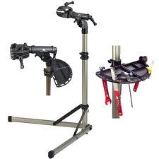 NEW BikeHand Bike Repair Workstand Workshop Alloy Folding W/Magnetic Tool Tray