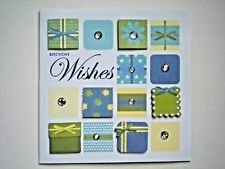 "PAPER MAGIC ~ GLITTER & GEMS ""BIRTHDAY WISHES"" GREETING CARD + ENVELOPE"