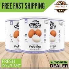 Augason Farms Dried Whole Eggs (approx. 71 egg)2 lbs1 oz  3 Cans, Food Storage