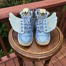 BABY SIZE 9K Adidas Originals Jeremy Scott DENIM WINGS JS V24622 Authentic 100%