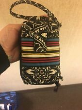 Vera Bradley Barcelona All in One Wristlet Zip Around Phone Case Small Wallet