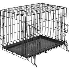 Cage pour chien Box de transport boîte cage parc à chiots canine 89 x 58 x 65 cm
