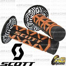 Scott Diamond Orange Black Grips Donuts Medium Soft Waffle Kawasaki KX KXF KLX