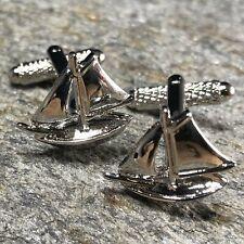 Jewelry / Nautical Cufflinks Clipper Ship Cufflinks / Nautical