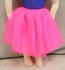WOVEN HOT PINK SPARKLE ORGANZA GATHERED DANCE COSTUME SKIRT-Size CHILD-XXS