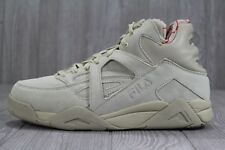 36 FILA The Cage Sneakers Beige Suede Shoes Men's Size US 11.5