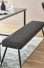 NEXT HAMILTON BENCH FAUX LEATHER GREY LUXURY LONG BENCH NEW BOXED £180 New Boxed