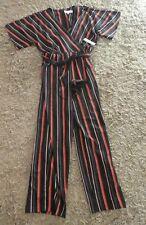 98368b80319 BNWT Emma   Michele Black   Red Stripe Short Sleeve Jumper suit All-in-