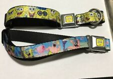 Buckle Down Dog Collar - SpongeBob SquarePants Dog Collar - Seat Belt Dog Collar