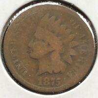 1875 Indian Head Cent 1c Circulated #10871