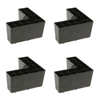 4-Pack Universal Sofa Legs Furniture Replacement Parts Plinth for Cupboard