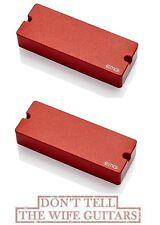 EMG 81-8 + 808 RED 8 STRING SOAPBAR ACTIVE SOLDERLESS PICKUP SET w WIRING & POTS