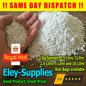 PREMIUM Grade Perlite *1-6mm* For Mixing Compost Growing Hydroponic 0.5-10 Litre