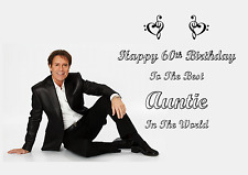 Cliff Richard personalised A5 birthday card mum sister auntie daughter name age