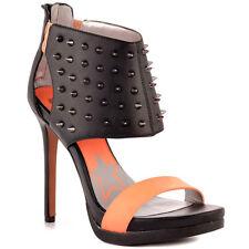 LDN_SAM EDELMAN_Escarpins sandales a talon noir corail cuir_8.5/39_val.99€ -40%