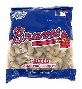 Atlanta Braves MLB Hampton Farms Salted Roasted Peanuts 12oz Bag