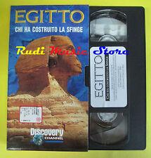 film VHS cartonata EGITTO Chi ha costruito la sfinge 3 DISCOVERY (F166) no dvd