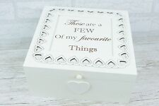 Memory Box Keepsake Chest Wooden Large White A Few Of My Favourite Things F1440A