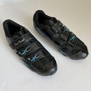 Pearl Izumi Women's All Road II Cycling Shoes Black EU 41 US 8.5-9 Black/ Blue