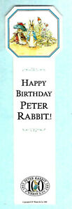 100 Years Anniversary Bookmark The Tale of Peter Rabbit Beatrix Potter Book