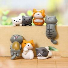 6 Piece Miniature Fairy Garden Cat Ornament Outdoor Decor Home Decoration Set