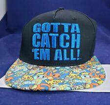 acf411ca6ea New Bioworld Pokemon Gotta Catch Em All! Snapback Flat Brimmed Baseball Cap  Hat