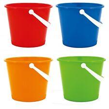 Kids Plastic 22cm Colourful Beach Bucket Play Toy Sandbox Castle Summer Outdoor