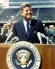 JOHN F. KENNEDY HISTORIC SPEECH AT RICE UNIV 09/12/1962 8X10 NASA PHOTO (EP-005)