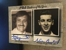 2009 PBA Bowling Autograph Dual Jim Stefanich - Nelson Burton JR