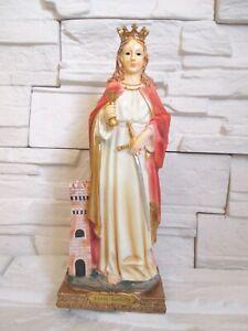 Barbara Heiligenfigur Madonna 31 cm Schutzpatron Bergleute Feuerwehr !!