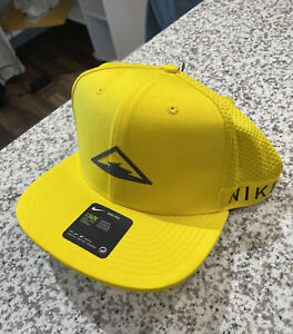 Nike Dri Fit Pro Trail Running Cap Adjustable Unisex Hat Yellow Trucker NWT NEW!