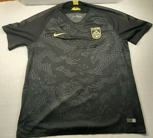 Nike authentic Chinese CFA soccer jersey size XL mens NWT, black