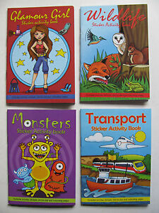 Mini Sticker Activity Book Travel A6 Size Puzzles Colouring Dot To Dot Stickers