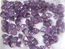 AAA Quality 15 Pcs. Natural Amethyst 7x7 MM Trillion Normal Cut Loose Gemstone
