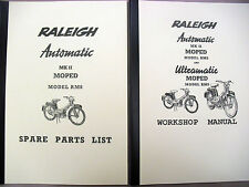 Raleigh Moped / RM8 / Workshop manual+Spare parts list /With Exploded Diagrams