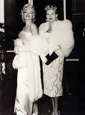 Marilyn Monroe & Betty Grable  Pin-up Print Great photo in white Mink stoles