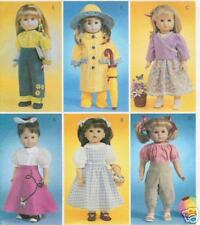 Raincoat hat pants top PATTERN McCalls 4066 fits 18in AG doll jeans boots jumper