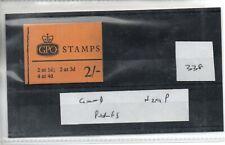 GB - Stamp Booklet - (338)  2/-d Booklet - N29P - Good  perfs