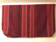 Aymara variegated burgundy wool poncho